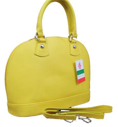 ital Damentasche Tasche Handtasche Ledertasche Henkeltasche Boston Bag Leder
