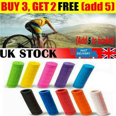 Soft Rubber Bike Handle Bar Grips Hand Grip MTB BMX Cycle Road Mountain Bicycle