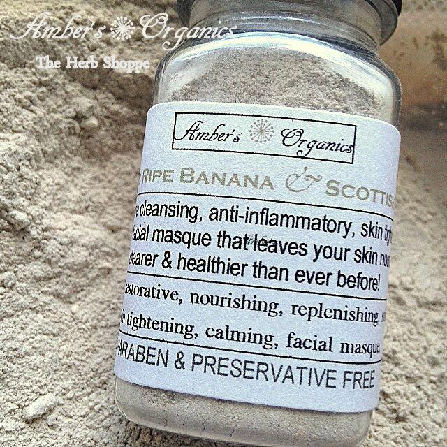 Organic Banana Fruit Acids & Scottish Oats Masque - Dead Skin Exfoliant Brighter