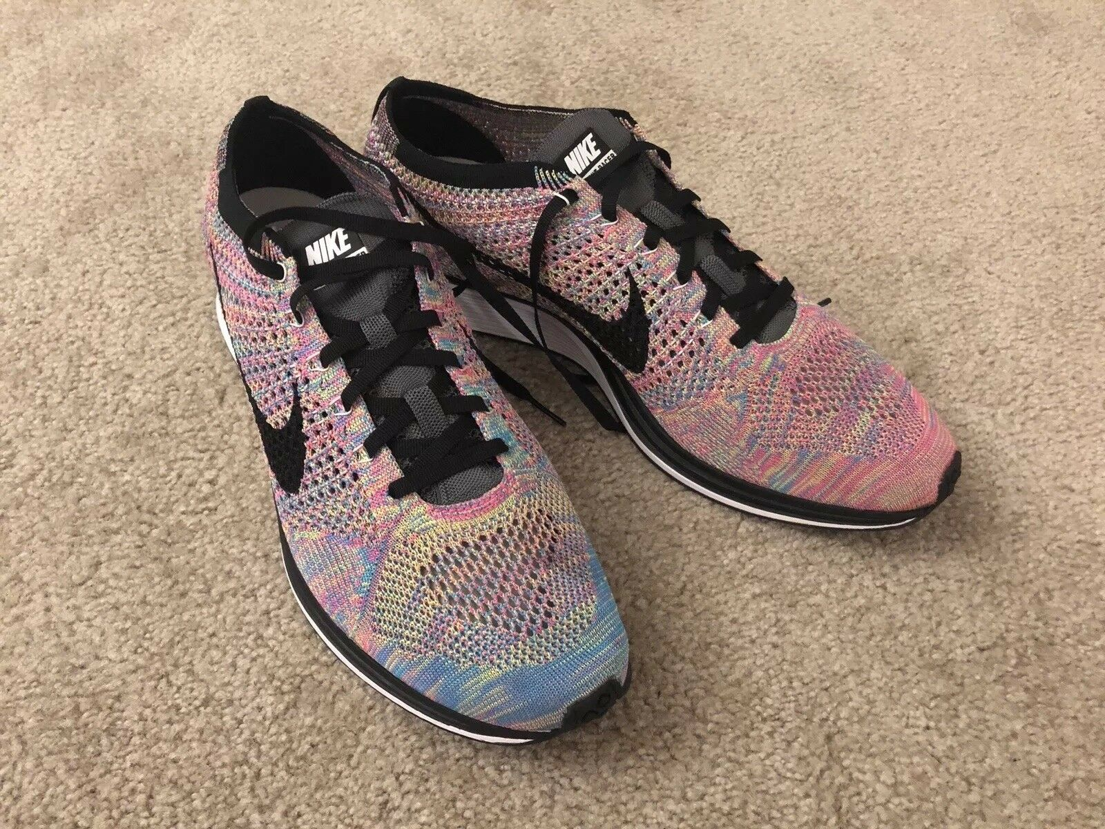 Nike Flyknit Racer 3.0 Multi color size 13. New. No box.