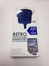 NEW RETRO WALKIE - TALKIE HANDSET FOR MOBILE PHONE. iPHONE, iPAD, SAMSUNG GALAXY