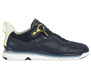Scarpe-da-uomo-Geox-LEVITA-U029XA-casual-sportive-basse-sneakers-estive-pelle