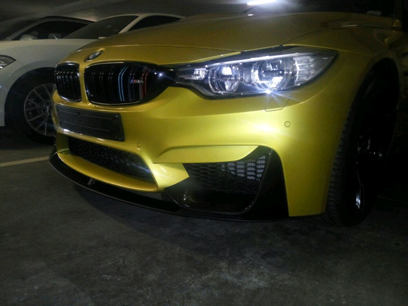 BMW M4 front splitter kit and lip Free Fitting