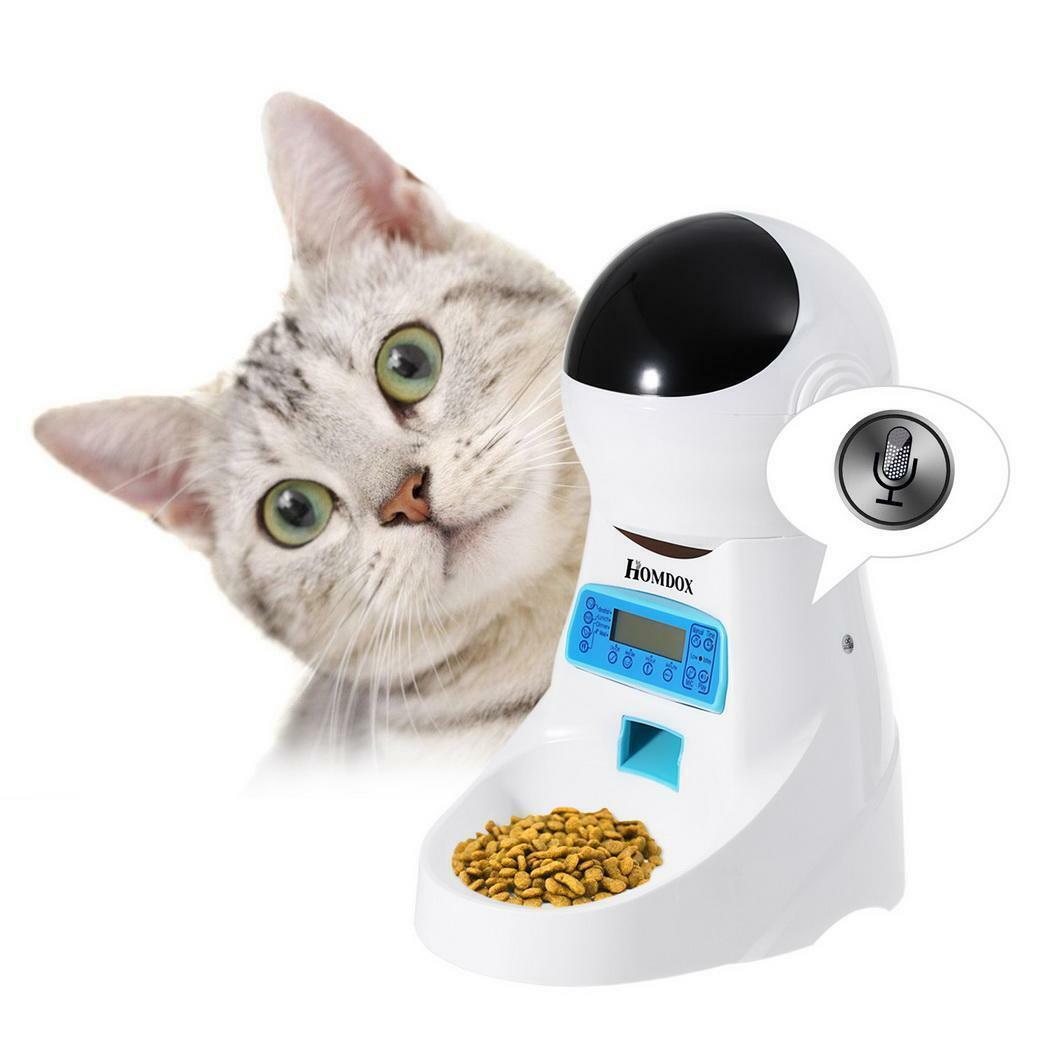 Haustier Automatisch Futterautomat für Hunde Katzen 4L Programmierbare Dispenser  | Sehr gute Farbe