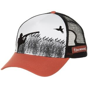 Image is loading Browning -Rooster-Pheasant-Silhouetted-Graphic-Hunting-Trucker-Hat- 2523e65f5898