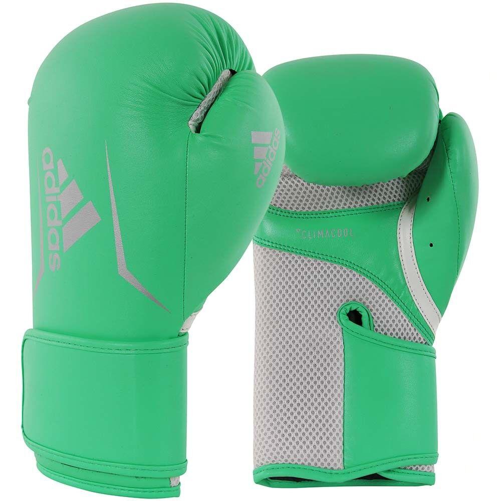 Adidas Adidas Adidas Boxhandschuhe, Speed 100, grün-silber 46b0b2