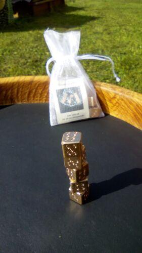 Römer Replik 5 Stück, klassische Form Römische Würfel aus Bronze