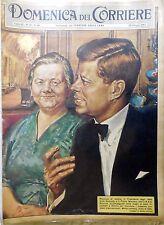 LA DOMENICA DEL CORRIERE N.25 1961 WALTER MOLINO KENNEDY