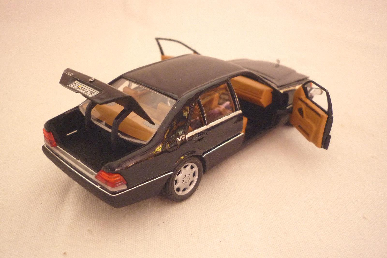 SCHABAK - MODELL MODELL MODELL - MERCEDES S 600 - DUNKELBLAU  -  1 43  (3.DIV-12)  | Offizielle  d1aaf8