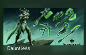 Dauntless-7-Emerald-Steel-Weapon-Skins-Game-Pass-Ultimate-Perks-Xbox-One-DLC