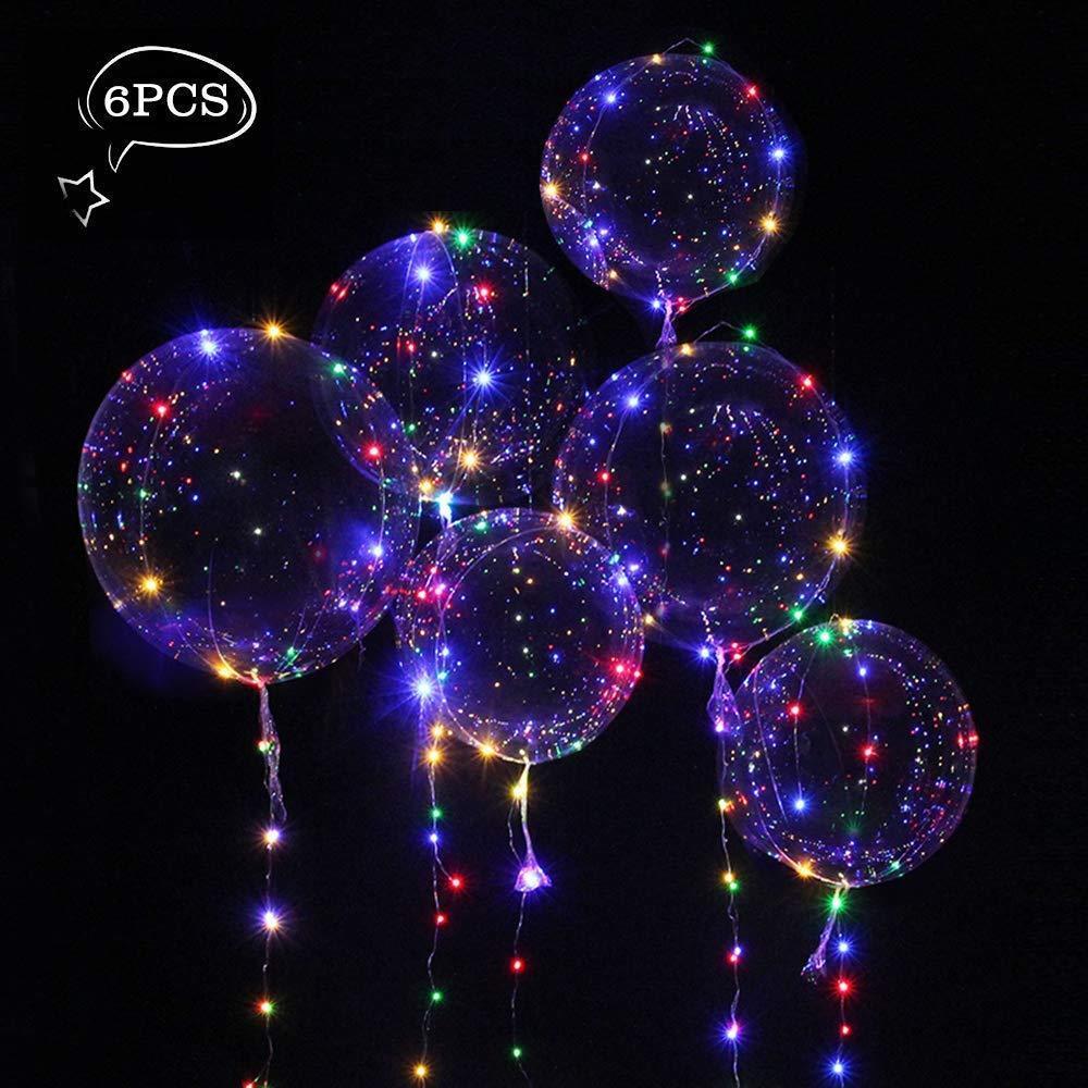 "6 X 18"" LED String Light Up Clear Balloon Christmas Xmas"