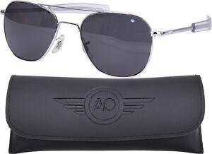 Image is loading AO-Eyewear-Polarized-Chrome-55mm-Air-Force-Pilots- 3c04c5f761c