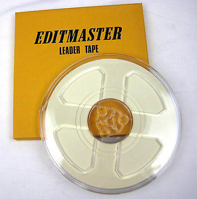 EDITMASTER Paper Leader Tape White 1//4in x 900ft New Free Shipping