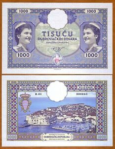 Republic-of-Ragusa-Dubrovnik-1000-Din-2019-Private-issue-UNC-gt-Large
