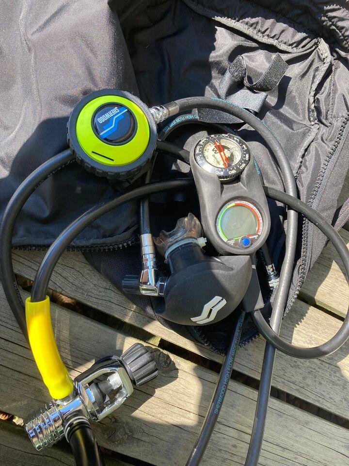 Regulatorsæt, octopus med tilhørende taske Sherwood og