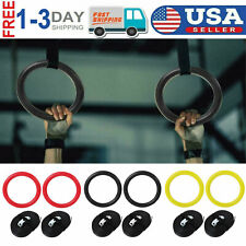 1pair Power Guidance Gymnastic Olympic Rings Exercise Pull Up Ring ABS Gym Rings