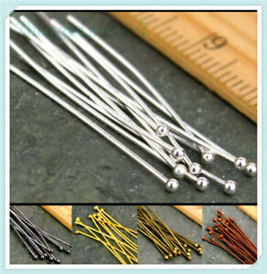 Wholesale-16-20-30-40-50mm-Ball-Gold-Plated-Pins-Jewelry-Finding-Head-100PCS