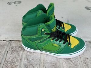 b9eab8933264 Vans Allred Turtle Kids Youth 3 Skate Hi tops Shoes Green Yellow