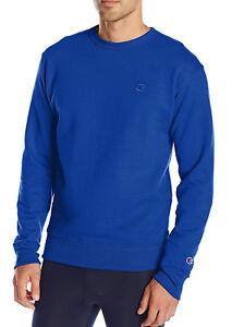 51d58d36016c New Champion Men s Powerblend Fleece Crew Neck Blue Pullover ...