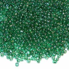 SBX1454p Green Crystal Luster 6/0 (4mm) Transparent Glass Seed 16oz (4160 Beads)
