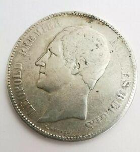 Coin 5 Francs Silver 1849 Leopold I Belgique. Ref63734