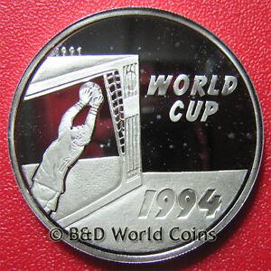 1991-LAOS-50-KIP-64oz-SILVER-PROOF-1994-USA-WORLD-CUP-SOCCER-GOALIE-LAO-CROWN
