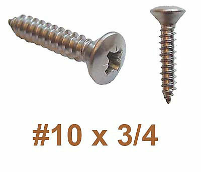 "5mm x 20mm 10g x 3//4/"" Stainless Pozi COUNTERSUNK Self Tapping Screws x100"
