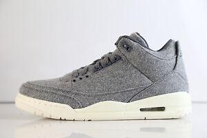 Nike Air Jordan Retro 3 Premium Grey Wool 2016 854263-004 8-11 1 4 12 sail