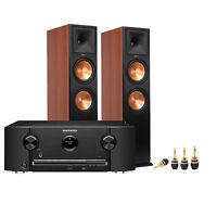 Marantz Sr5011 7.2 Receiver, Klipsch Rp280fch Speakers & Banana Plugs Bundle