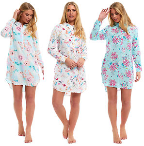 Summer Nightshirt Nightie Holiday Floral Kaftan Beach Cover Up Buttoned w Collar