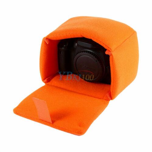 Shockproof Mirrorless Cámara Lente caso inserto partición Bolsa Acolchada Naranja ❤ U
