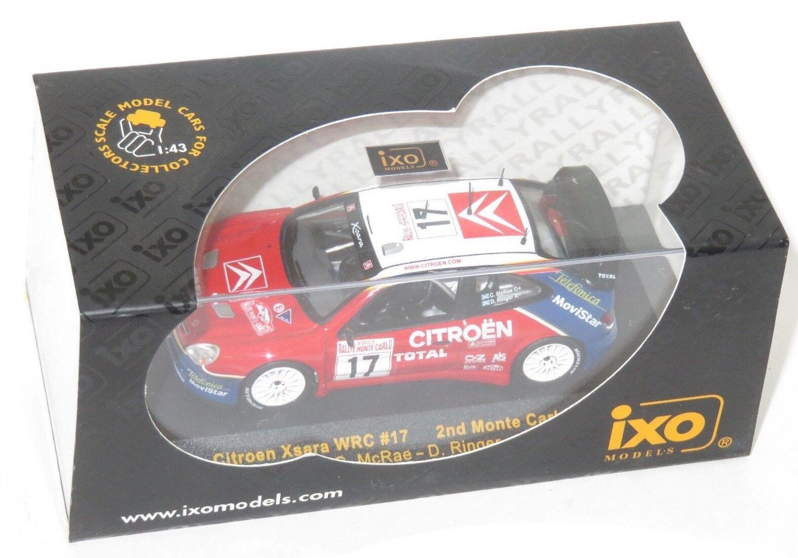 1/43 CITROEN XSARA WRC Totale Monte Carlo Rallye 2003 C. MCRAE