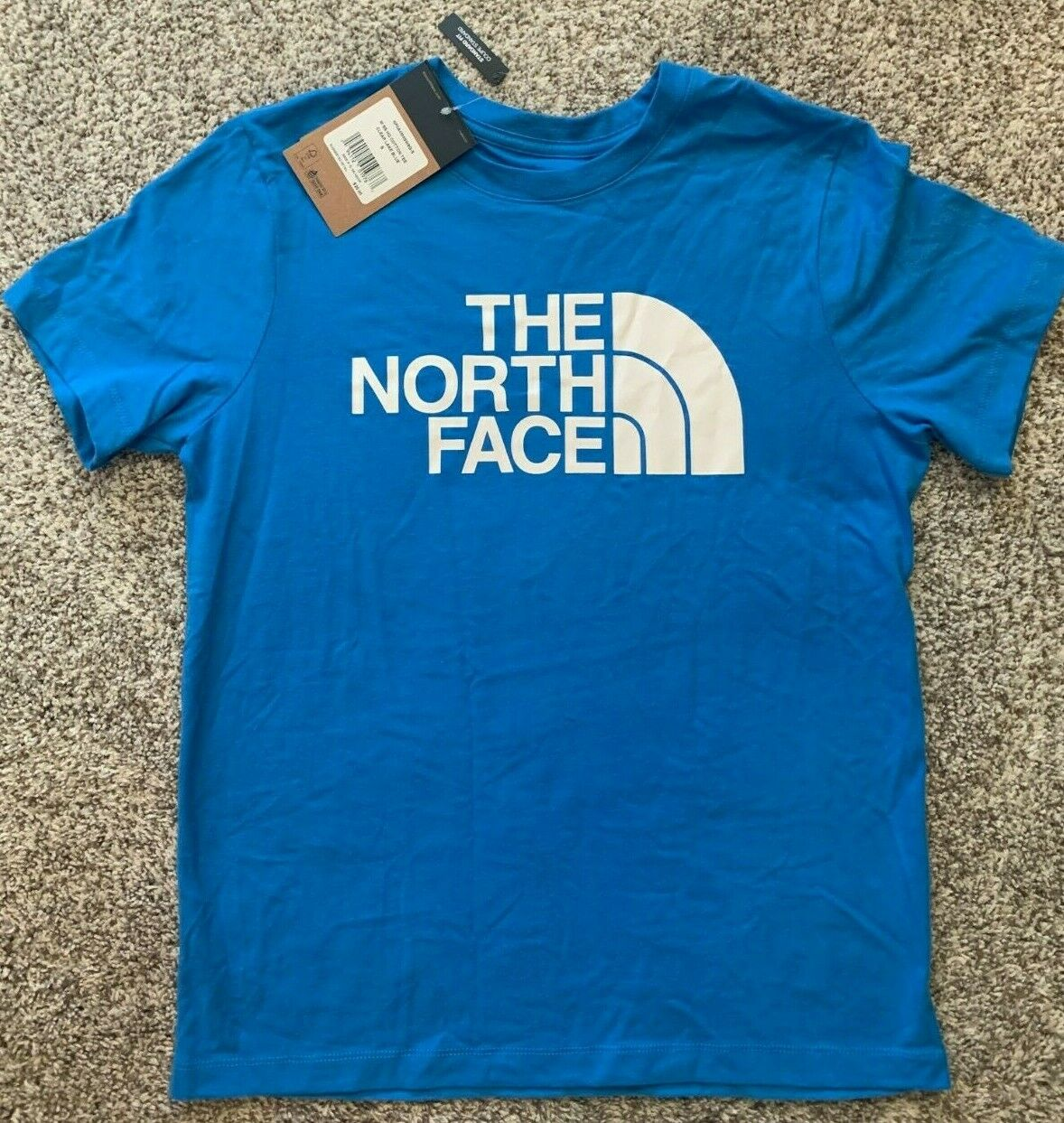 The North Face women's SS Half Dome Cotton Tee Shirt Blue Size Small