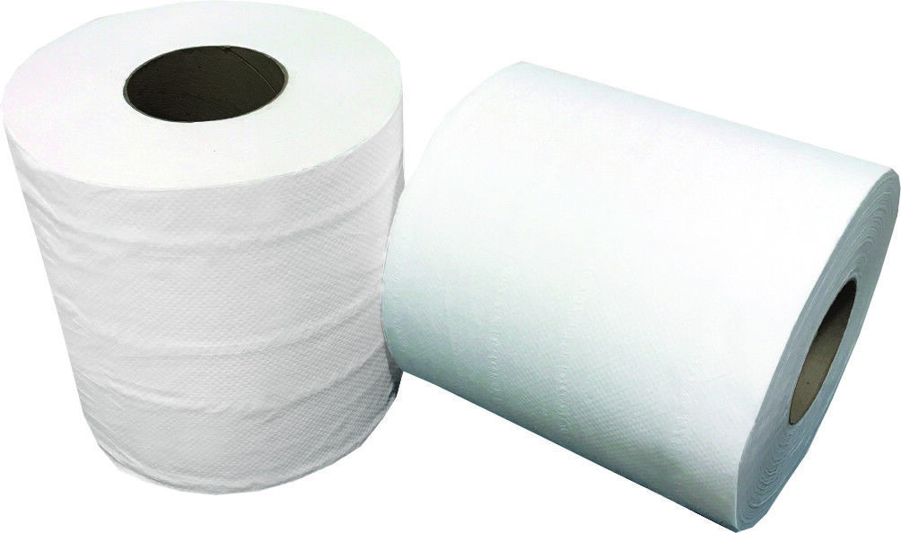 White Paper Towel High Capacity Rolls 800 Ft 2 Core - 6   Case (HuskyPapers)