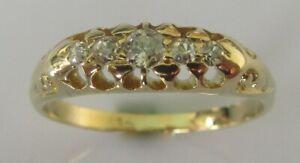 Edwardian-18ct-yellow-gold-5-stone-old-cut-diamond-gypsy-ring-size-N