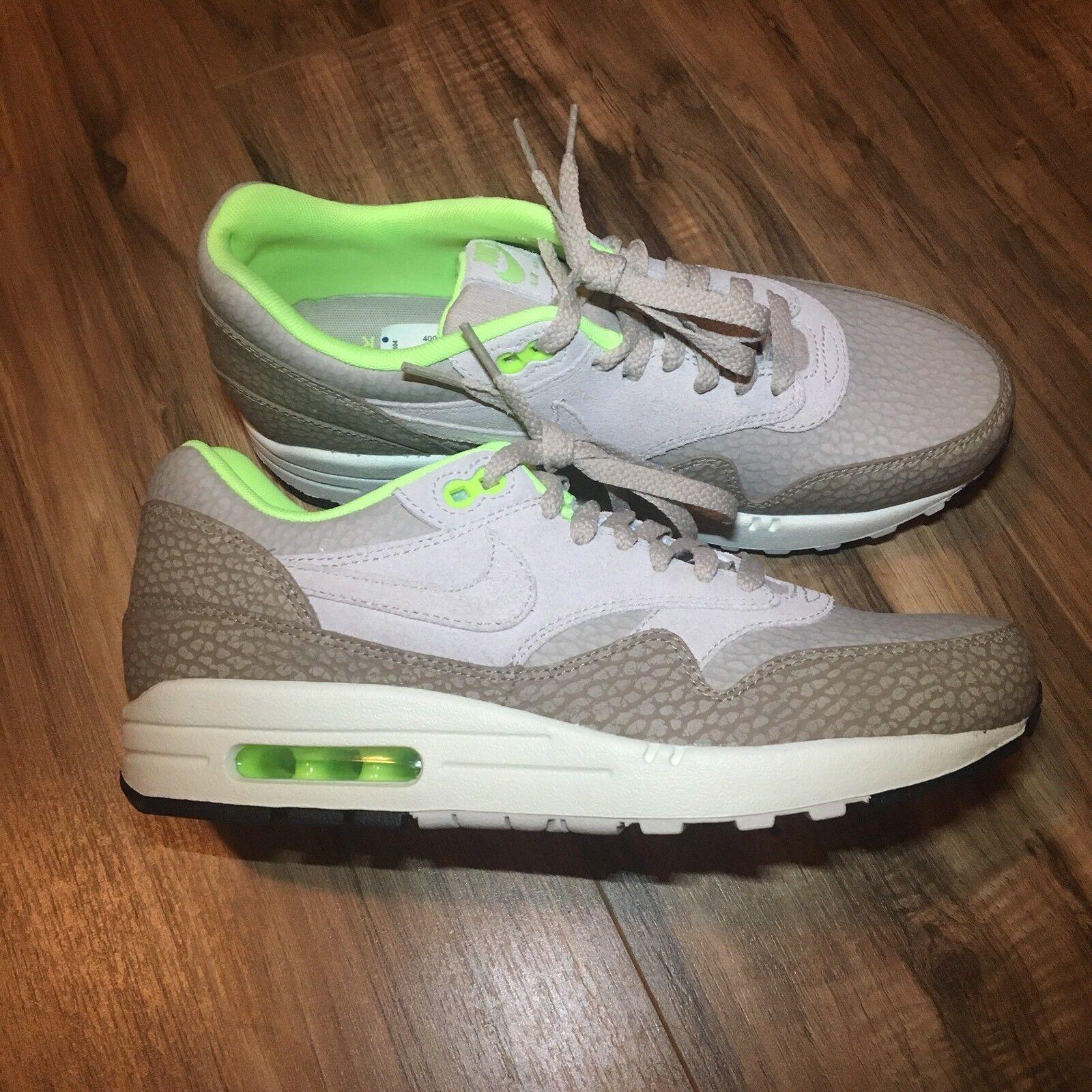 Nike Air Max 1 Premium Sneaker TAN BEIGE DESERT CAMO GREEN 512033-203 Men's Sz 8