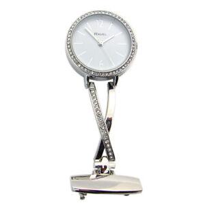 Ravel-Nurse-or-Beauticians-Diamante-Fob-Brooch-Uniform-Watch-Sil-R1106-01