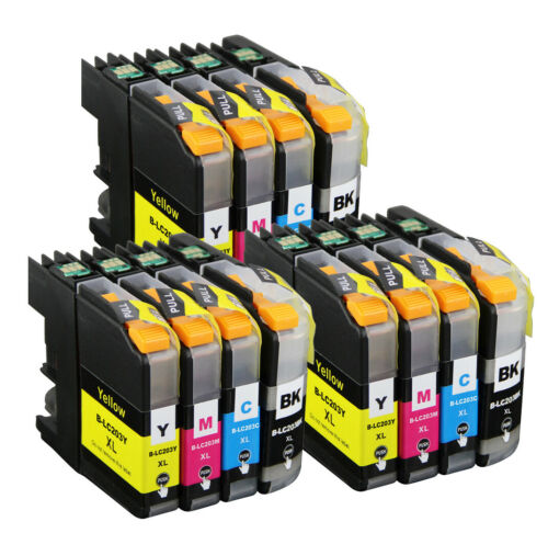 LC203 Compatible Ink Cartridges for Brother MFC-J460DW MFC-J480DW MFC-J485DW New
