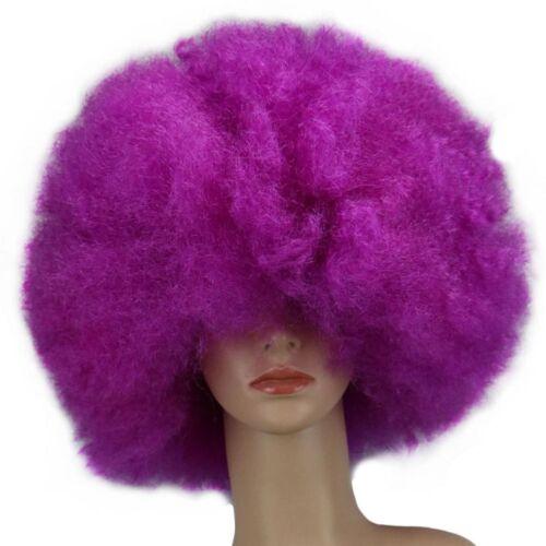 Vintage Super Afro Costume Wig Big Huge 70s Disco Clown Halloween Fancy Dress
