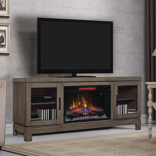 Tremendous Berkeley Electric Fireplace Tv Stand In Spanish Grey Interior Design Ideas Gentotthenellocom