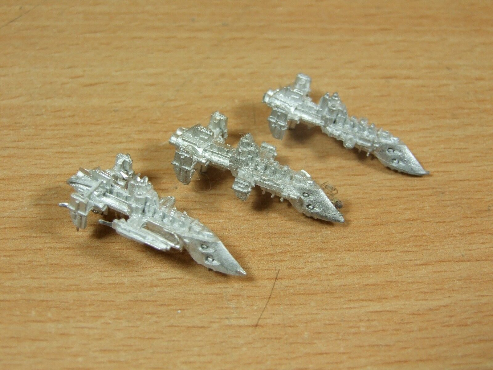 3 CLASSIC METAL BATTLEFLEET GOTHIC IMPERIAL COBRA DESTROYERS UNPAINTED (1988)
