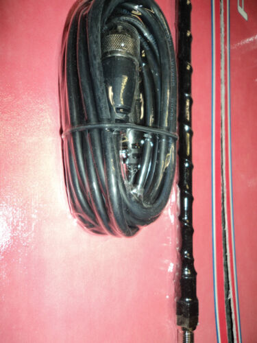 Single Fiberglass CB Antenna W// Mirror Mount Kit W// 12 ft HSS995-4B 4 ft Coax