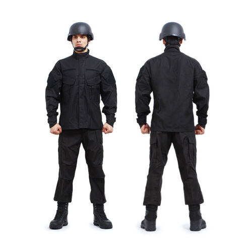 SWAT Black Painball Military Camouflage Suit Airsoft Uniform Sets-Jacket Pant