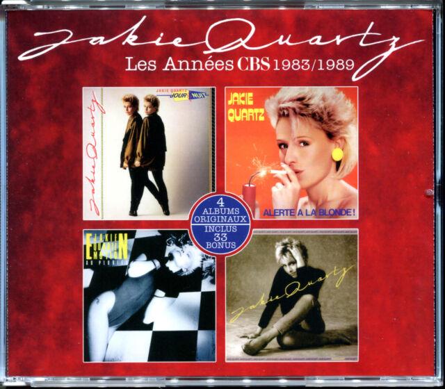 JAKIE QUARTZ - LES ANNEES CBS 1983 / 1989 - BEST OF INTEGRALE 4 CD NEUF