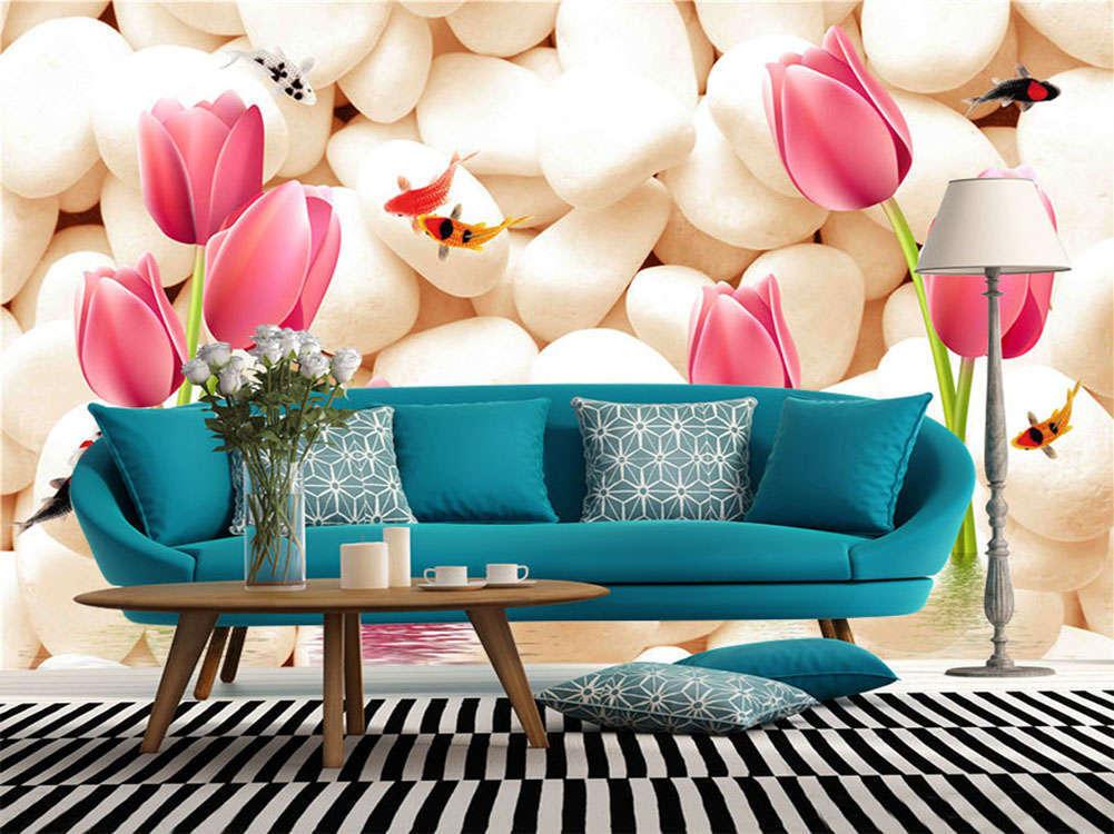 Pure Elegant Roses 3D Full Wall Mural Photo Wallpaper Printing Home Kids Deco