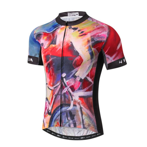 Weimostar Cycling Jersey Shirt Men/'s Short Breathable Sleeve Bicycle Clothing