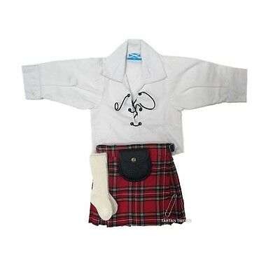 Stewart Hunting Tartan Adjustable Baby Tartan Kilt Age 0-24 Months