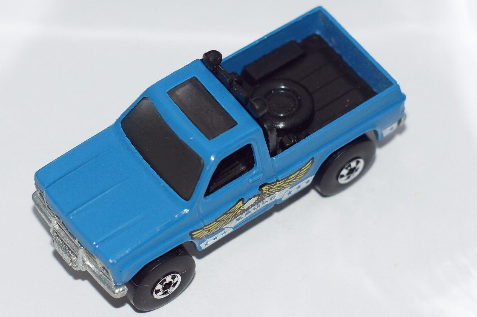 ORIGINAL Hot Wheels Trailbusters - Blau Bywayman Eagle Pickup - BWs - Metal Base