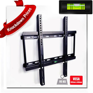 TV-WALL-MOUNT-BRACKET-SLIM-FOR-LED-LCD-PLASMA-3D-26-32-34-37-40-42-46-48-50-034-55-034