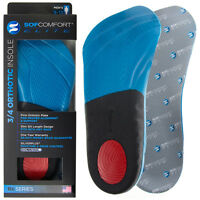 Sof Comfort Elite Men's 3/4 Orthotic Shoe Insoles Inserts With Heel Arch Support on sale
